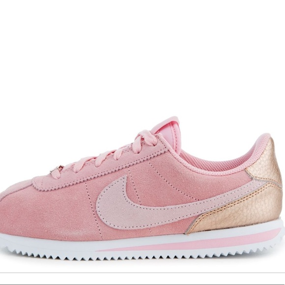 Nike Cortez Baby Pink Suede/Rose Gold! 7Y/8.5WNS